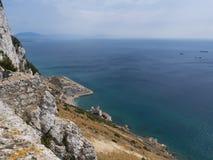 Zadziwiający widok Maroko od Gibraltar skały zdjęcie stock