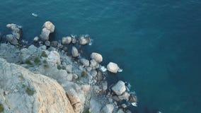 Zadziwiająca antena strzelał rockowa formacja w Crimea zbiory