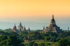 Zadziwiająca antyczna świątynia w Bagan Obrazy Royalty Free