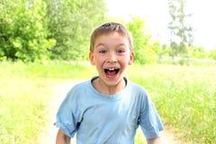 zadziwiająca chłopiec Zdjęcia Royalty Free