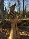 Zadziwiająca drewniana rzeźba Fotografia Royalty Free