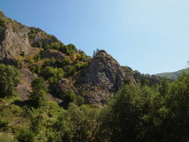zadziwiająca krajobrazowa góra obraz royalty free