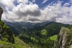 zadziwiająca krajobrazowa góra nosal widok Tatrzańskie góry Zdjęcia Stock