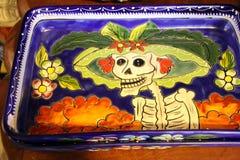 Zadziwiająca Meksykańska Szklana sztuki czaszka w Puerto Penasco, Meksyk Fotografia Royalty Free