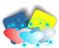 Zadziwiająca miłość z kartami Zdjęcia Stock
