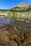 Zadziwiająca panorama Dalgoto Długi jezioro, Pirin góra Fotografia Royalty Free