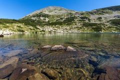 Zadziwiająca panorama Dalgoto Długi jezioro, Pirin góra Obraz Stock