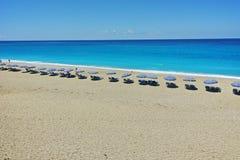 Zadziwiająca panorama Katisma plaża, Lefkada, Ionian wyspy, Zdjęcie Stock
