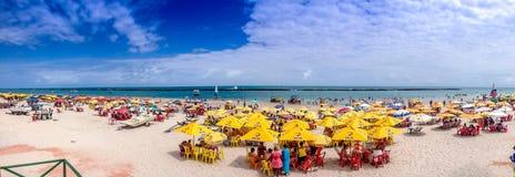 Zadziwiająca plaża blisko Maceio, Brazylia Obrazy Royalty Free