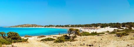 Zadziwiająca plaża Chrissi wyspa blisko Crete, Grecja obrazy royalty free