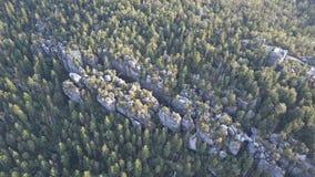 Zadziwiająca rockowa formacja na Szczeliniec Wielki w Stołowym góra parku narodowym Atrakcja turystyczna Polski Sudetes zbiory