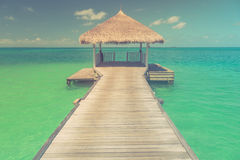 Zadziwiająca romantyczna lato plaży scena Zdjęcie Stock