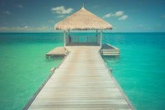 Zadziwiająca romantyczna lato plaży scena Obrazy Stock