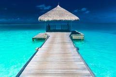 Zadziwiająca romantyczna lato plaży scena Zdjęcia Stock