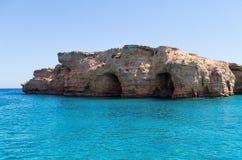 Zadziwiająca sceneria w Ano Koufonisi wyspie, Cyclades, Grecja obraz stock