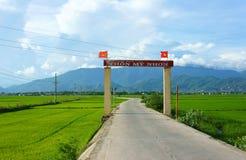 Zadziwiająca sceneria, Wietnamska przysiółek brama Zdjęcia Royalty Free