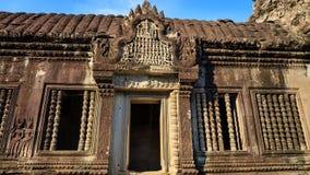Zadziwiająca Wejściowa struktura Angkor Wat Zdjęcia Stock