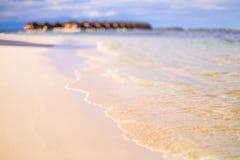 Zadziwiająca zmierzch plaża Zdjęcia Royalty Free