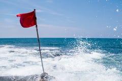 Zadziwiające łamanie oceanu fala na Bali Obraz Royalty Free