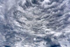 Zadziwiające apokaliptyczne chmury przed burzą zdjęcia royalty free