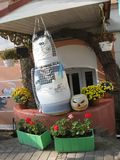 Zadziwiające dekoracje cukierniany wejście Obraz Royalty Free