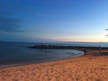 Zadziwiającej natury błękitny morze w Tajlandia Obraz Stock