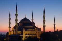 zadziwiający błękitny meczet Obraz Royalty Free