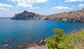 zadziwiający czerń krajobrazu morze Obrazy Royalty Free