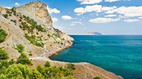 zadziwiający czerń krajobrazu morze Fotografia Royalty Free