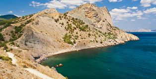 zadziwiający czerń krajobrazu morze Zdjęcia Royalty Free