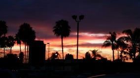 Zadziwiający czerwony niebo obrazy royalty free