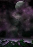 Zadziwiający fantazi planetscape zdjęcie royalty free