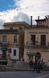 Zadziwiający fontanna centaur - symbol miasto Ulubiony miejsce odtwarzanie dla mieszkanów i gości miasto Fotografia Royalty Free