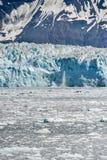 Zadziwiający Hubbard lodowiec w Alaska na lato dniu obraz stock