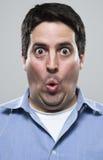 Zadziwiający i excited mężczyzna Zdjęcia Stock