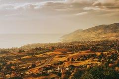 Zadziwiający jesień krajobraz Lavaux winnicy Obrazy Royalty Free