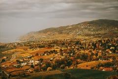 Zadziwiający jesień krajobraz Lavaux winnicy Obrazy Stock