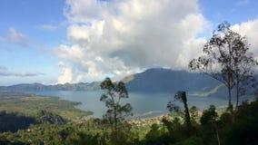 Zadziwiający Jeziorny Batur w Indonezja Bali wyspa Timelapse zbiory