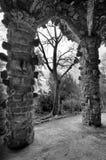 Parc Guell jest sławnym i pięknym parkiem projektującym Antoni Gaudi Fotografia Royalty Free