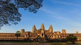 Zadziwiający krajobraz Angkor Wat świątynia Obrazy Royalty Free