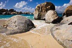 Zadziwiający krajobraz na Tortola plaży Fotografia Royalty Free