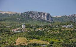 Zadziwiający krajobraz w Crimea Zdjęcie Royalty Free