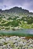 Zadziwiający krajobraz wokoło Samodivski jezior, Pirin góra Fotografia Royalty Free