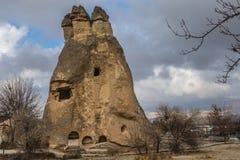 Zadziwiający krajobrazy z skałami i skały w Cappadocia, Turcja, kocha i odwiedza turystami od światu po całym Zdjęcie Royalty Free