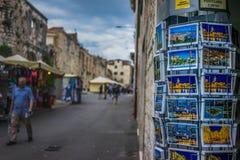 Zadziwiający miejsce w starym miasteczku w rozłamu, Chorwacja obrazy royalty free