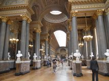 Zadziwiający pałac Versailles, Luksusowi wnętrza zdjęcia stock