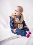Zadziwiający piękny dziecko fotografia royalty free