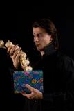 zadziwiający pudełkowaty śmieszny prezenta strzału wampir Obraz Stock