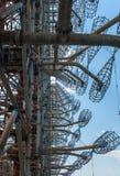 Zadziwiający radia centrum Duga w Pripyat, Chernobyl teren zdjęcia stock