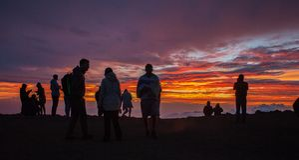 Zadziwiający Sceniczny Haleakala krater Maui Hawaje zdjęcie stock